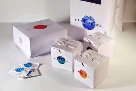 Contoh Kreatif Desain Kemasan Produk Makanan - Desain-Kreatif-Kemasan-Makanan-Packaging-Caprice-oleh-Mariane-Gaudreau