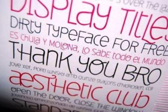 62 Font Unik untuk Desain Grafis - Font-Unik-Delbi