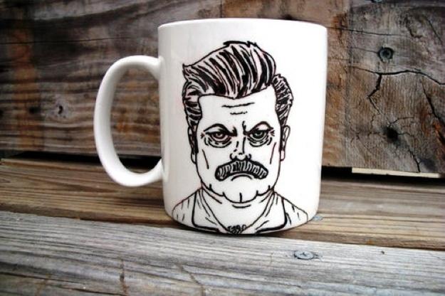 25 Mug Desain Keren untuk Para Maniak - Mug Desain Keren - Gambar Orang Marah