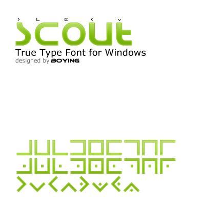 62 Font Unik untuk Desain Grafis - scout___ttf_by_boyingopaw