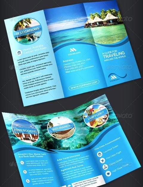 25 Contoh Desain Brosur Tour Dan Travel Terbaik - Brosur-Tour-dan-Travel-Travel-TriFold-Brochure-Volume-1