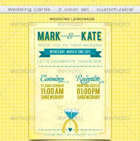 Desain Undangan Pernikahan Terbaik Template Photoshop