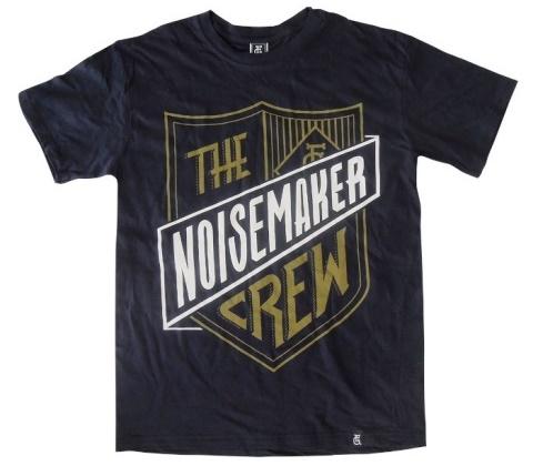 27 contoh kaos dengan desain keren - Desain kaos keren - The Noisemaker Crew by Hello Jon
