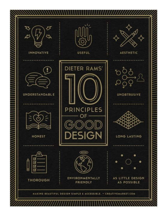 46 Contoh Poster Desain Inspiratif - Poster-inspiratif-tentang-10-Principles-of-Good-Design-oleh-Gerren-Lamson-790x1024