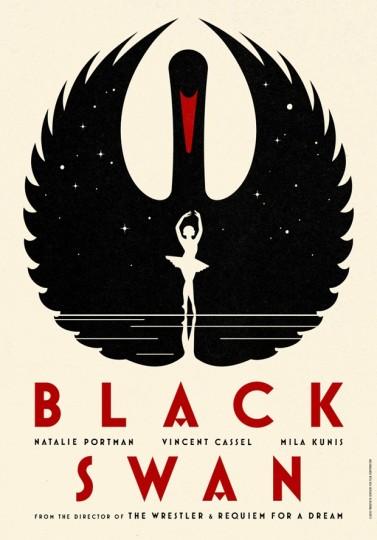 46 Contoh Poster Desain Inspiratif - Poster-inspiratif-tentang-Black-Swan-oleh-LaBoca