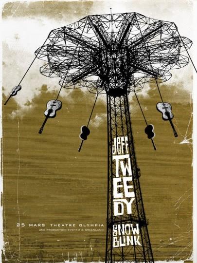 46 Contoh Poster Desain Inspiratif - Poster-inspiratif-tentang-Jeff-Tweedy-Three-Color-Screen-Print-oleh-Path-Poster-Designs