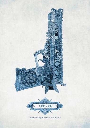46 Contoh Poster Desain Inspiratif - Poster-inspiratif-tentang-Uang-oleh-Graziano-Losa