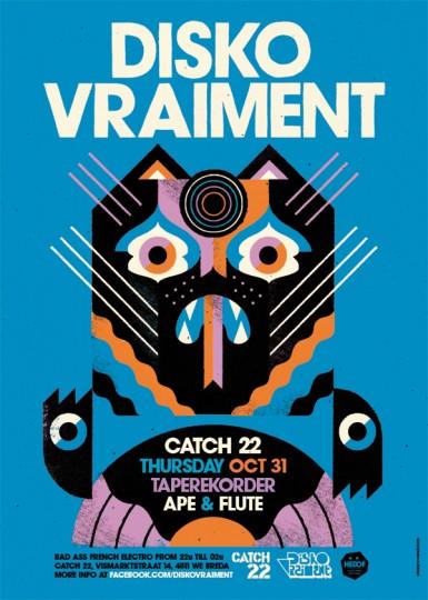 46 Contoh Poster Desain Inspiratif - Poster-inspiratif-tentang-disko-vraiment-yang-didesain-oleh-Hedof