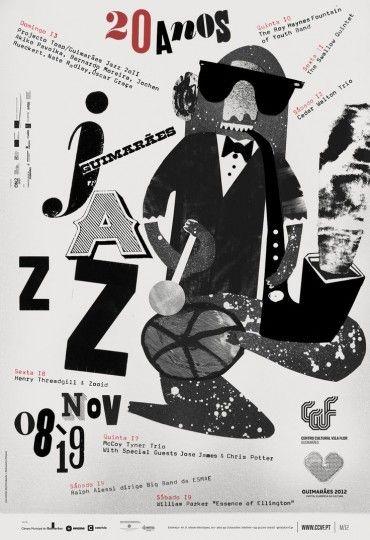 46 Contoh Poster Desain Inspiratif - Poster-inspiratif-tentang-musik-Jazz-oleh-atelier-martino-jana