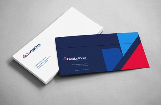 24 Contoh Desain Amplop Kreatif - Contoh-Desain-Amplop-ConductCare-Brand-Identity