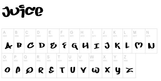 43 Font Graffiti Free Download - Juice Grafiti Font