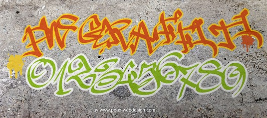 43 Font Graffiti Free Download - PW Graffiti Grafiti Font