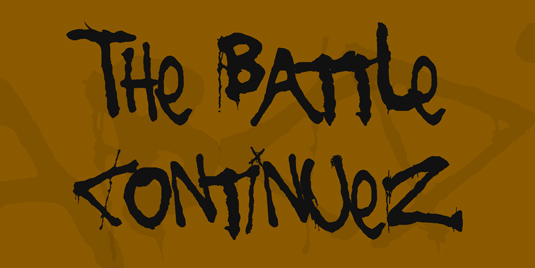 43 Font Graffiti Free Download - The Battle Continuez Grafiti Font