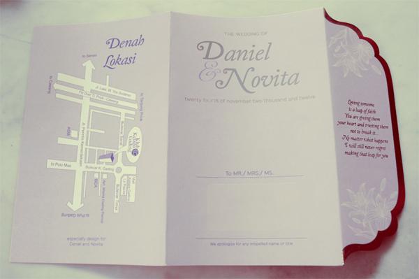 37 Contoh Konsep Undangan Pernikahan Indonesia - Konsep-Undangan-Pernikahan-Indonesia-Daniel-and-Novitas-Wedding-invitation