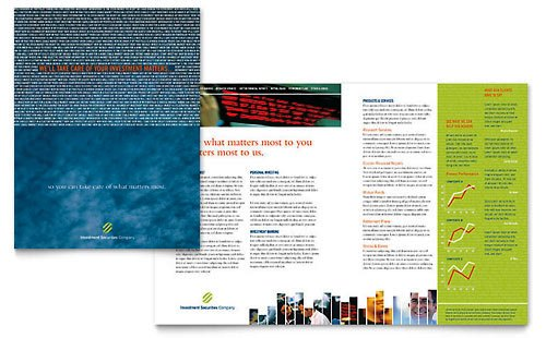 36 Contoh Desain Pamflet dan Brosur Jasa Keuangan - Brochure & Pamphlet Design-Perusahaan-Sekuritas-Investasi