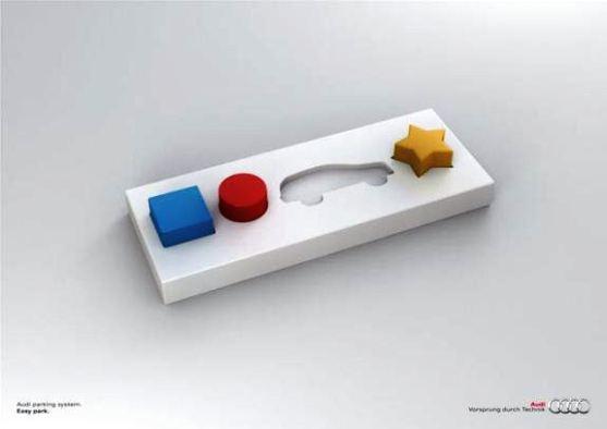 Contoh Format Iklan Advertising dengan Desain Minimalis - Contoh-03-Desain-Iklan-Minimalis-Audi-VAESA-Easy-Park