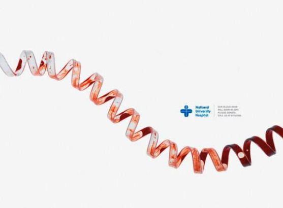 Contoh Format Iklan Advertising dengan Desain Minimalis - Contoh-24-Desain-Iklan-Minimalis-National-University-Hospital-Blood-Donation-Centre-Lifeline