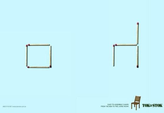 Contoh Format Iklan Advertising dengan Desain Minimalis - Contoh-32-Desain-Iklan-Minimalis-TokStok-Matches-Chairs