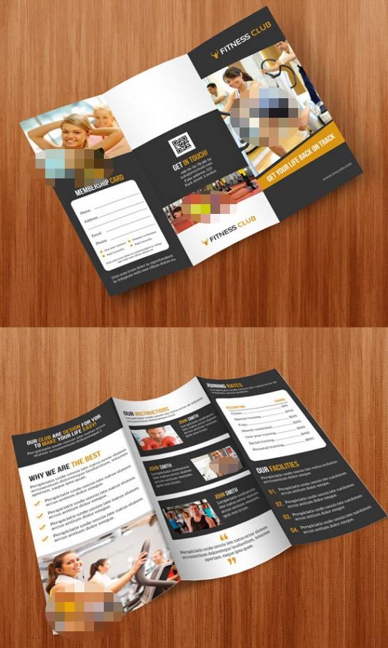 Contoh Desain Brosur Lipat Tiga - Contoh-Desain-Brosur-Lipat-3-terbaru-GYM-Tri-Fold-Brochure