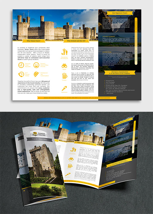 Contoh Desain Brosur Lipat Tiga - Contoh-Desain-Brosur-Lipat-3-terbaru-Ireland-Traveling-Brochure