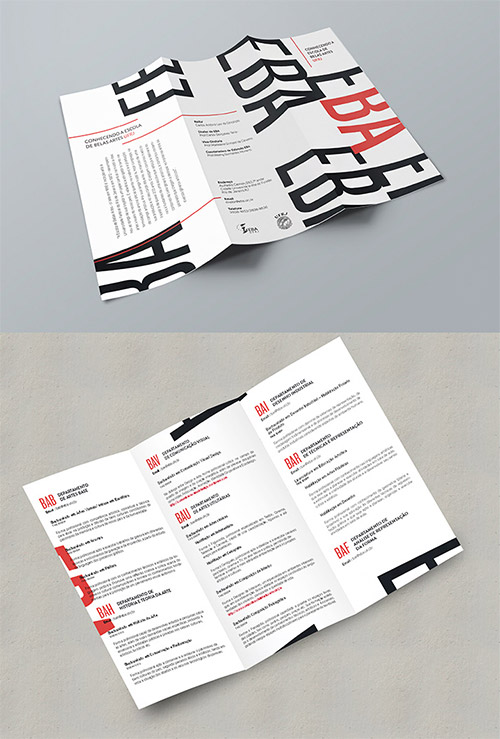 Contoh Desain Brosur Lipat Tiga - Contoh-Desain-Brosur-Lipat-3-terbaru-Pocket-Guide-Escola-de-Belas-Artes