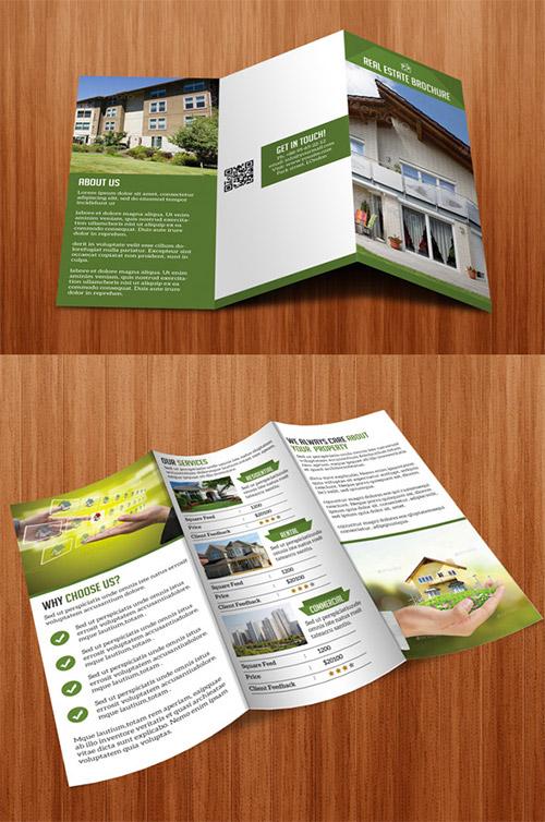 Contoh Desain Brosur Lipat Tiga - Contoh-Desain-Brosur-Lipat-3-terbaru-Real-Estate-Tri-Fold-Brochure