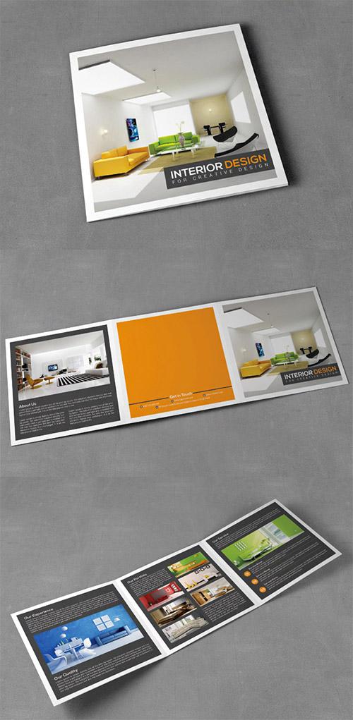 Square Trifold Interior Brochure