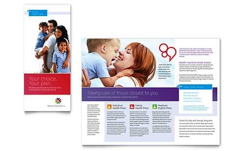 Desain Brosur Pamflet Kesehatan dan Medis - Contoh-Pamflet-Brosur-Asuransi-Medis