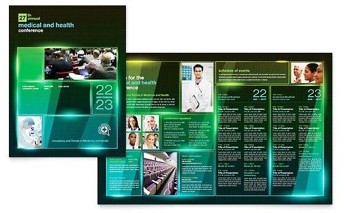 Desain Brosur Pamflet Kesehatan dan Medis - Contoh-Pamflet-Brosur-Konferensi-Seminar-Medis-Kesehatan-Sosialisasi
