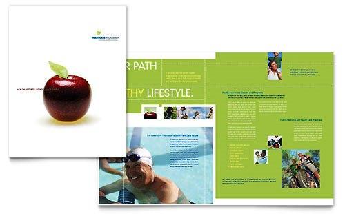 Desain Brosur Pamflet Kesehatan dan Medis - Contoh-Pamflet-Brosur-Manajemen-Kesehatan