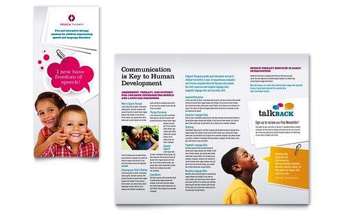 Desain Brosur Pamflet Kesehatan dan Medis - Contoh-Pamflet-Brosur-Pendidikan-Terapi-Bicara-Anak