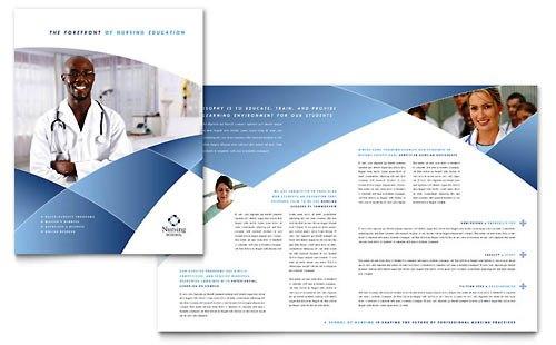 Desain Brosur Pamflet Kesehatan dan Medis - Contoh-Pamflet-Brosur-Sekolah-Akademi-Keperawatan