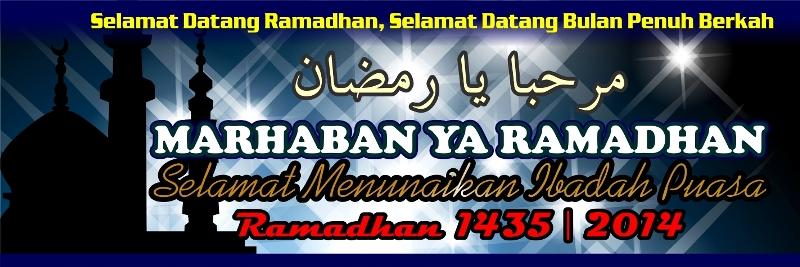 Banner Spanduk Ramadhan 2014 1435 Desain Cantik