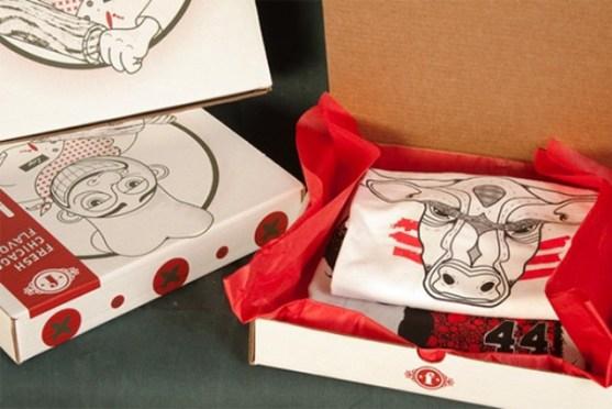Desain Kemasan Packaging Kaos T Shirt Kreatif Bagus - Kemasan-T-Shirt-Kemasan-Pizza
