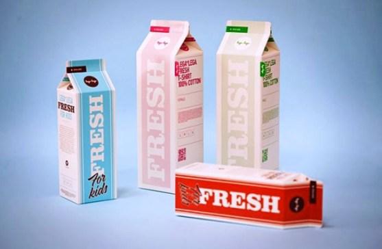 Desain Kemasan Packaging Kaos T Shirt Kreatif Bagus - Kemasan-T-Shirt-Seperti-Kemasan-Susu-Minuman