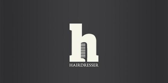 Logo dengan Desain Spasi Negatif - Logo-Jasa-Tata-Rambut