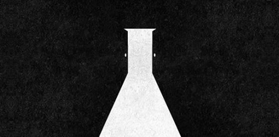 Logo dengan Desain Spasi Negatif - Logo-Lab-Open