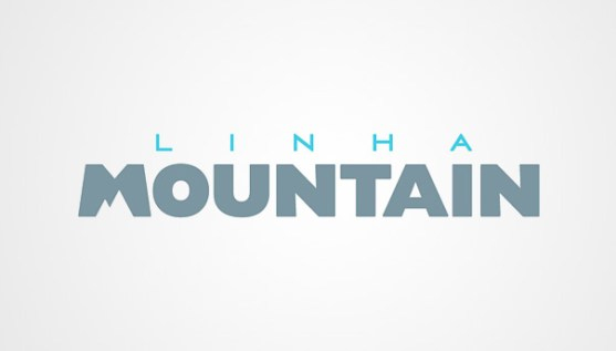Logo dengan Desain Spasi Negatif - Logo-Linha-Mountain