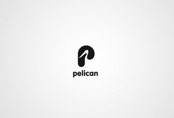 Logo dengan Desain Spasi Negatif - Logo-Pelican