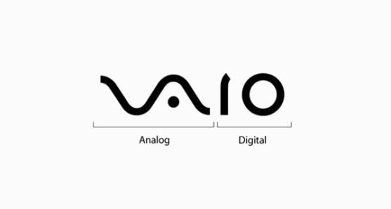 48 Contoh Logo dengan Simbol Tersembunyi - Vaio-Analog-Digital-Logo