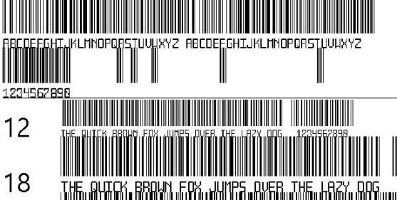 30 Best Font Barcode Download Free - Another barcode font (TrueType)