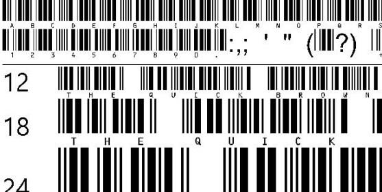 30 Best Font Barcode Download Free - C39HrP24DlTt (TrueType)