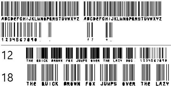 30 Best Font Barcode Download Free - Woodcutter barcode (TrueType)