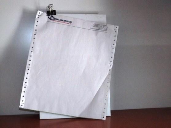 Continuous Form Surat Jalan Invoice dan Slip Gaji - Continuous Form Paper Percetakan Ayu DSCF2351