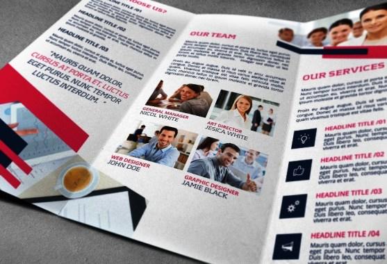 Membuat Desain Brosur untuk Usaha - Corporate-Trifold-Business-Brochure-Template