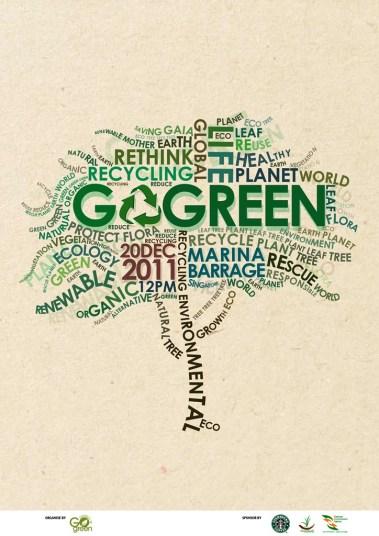 33 Contoh Poster Adiwiyata Go Green Lingkungan Hidup Hijau - Go Green Poster by Syhaw