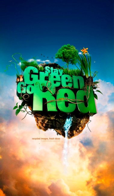 33 Contoh Poster Adiwiyata Go Green Lingkungan Hidup Hijau - Stay-Green_-Go-Red_-posterwallpaper