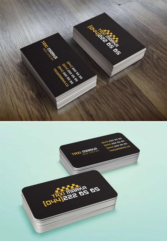 Desain Kartu Nama Bisnis Taksi - Kartu Nama Taxi - Business Card Taxi