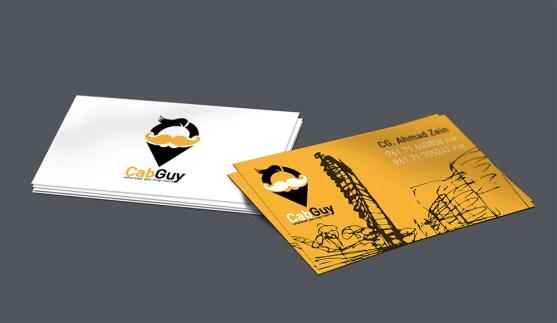 Desain Kartu Nama Bisnis Taksi - Kartu Nama Taxi - CabGuy