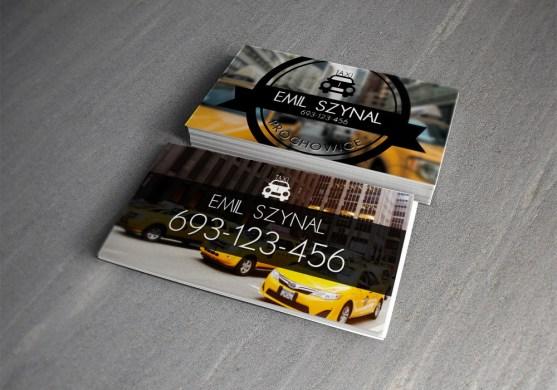 Desain Kartu Nama Bisnis Taksi - Kartu Nama Taxi - Taxi Business Card 0